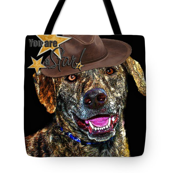Tote Bag featuring the digital art You Are A Star by Kathy Tarochione