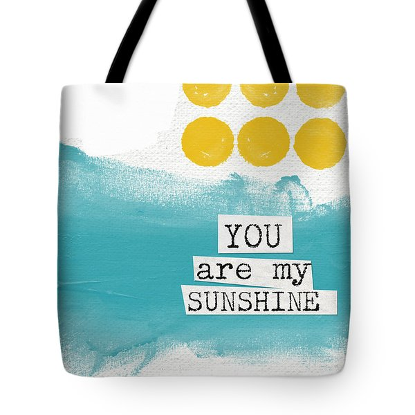 You Are My Sunshine- Abstract Mod Art Tote Bag by Linda Woods