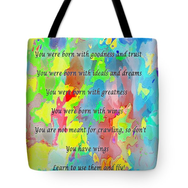 You Have Wings Tote Bag by Barbara Griffin