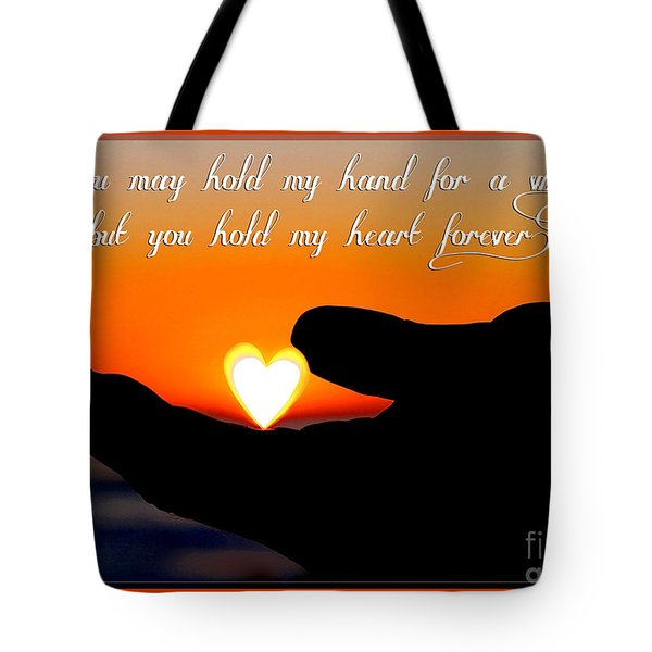 You Hold My Heart Forever By Diana Sainz Tote Bag