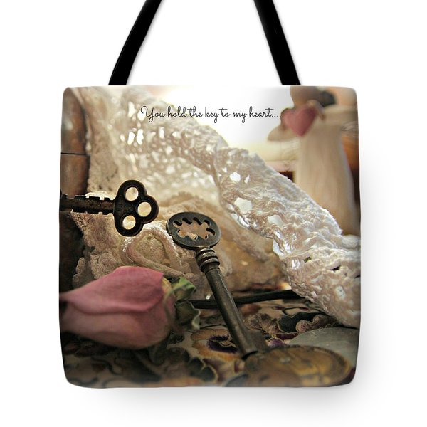You Hold The Key To My Heart Tote Bag by Katie Wing Vigil