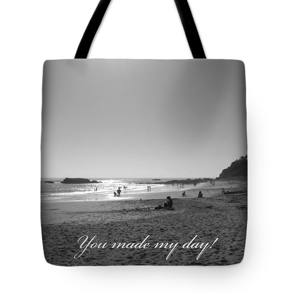 Tote Bag featuring the photograph You Made My Day by Connie Fox