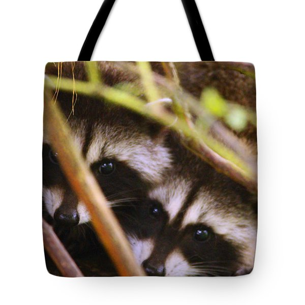 You Think She Can See Us? Tote Bag