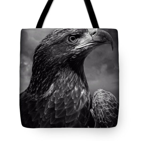 Young Bald Eagle V4 Tote Bag by F Leblanc