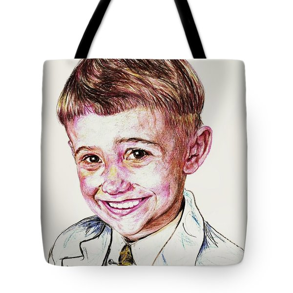 Young Boy Tote Bag by PainterArtist FIN
