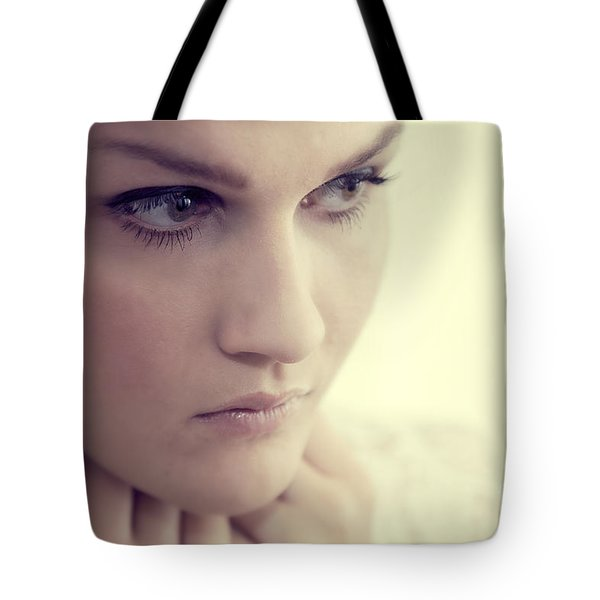 Young Elegant Woman In Glamour Fashion Tote Bag by Michal Bednarek