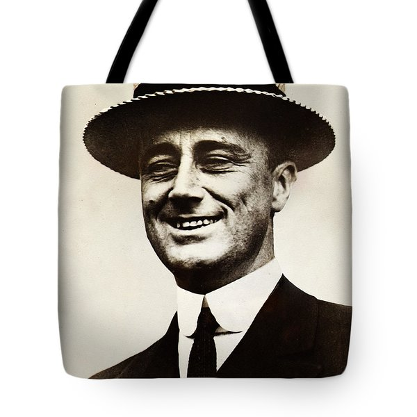Young Franklin  Roosevelt Tote Bag by Bill Cannon