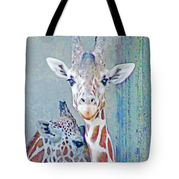 Young Giraffes Tote Bag