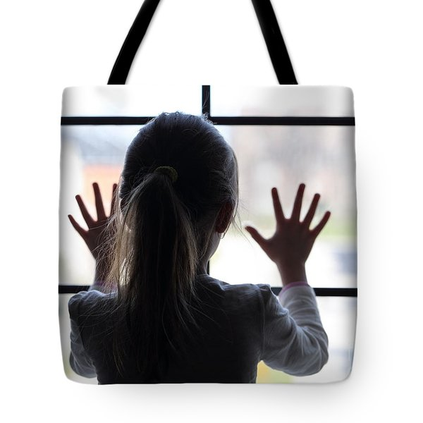 Young Girl At Window Tote Bag
