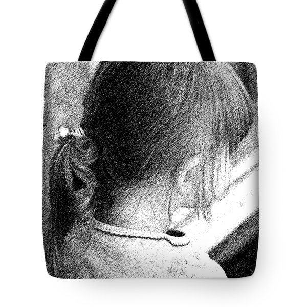 Young Girl Tote Bag by Jennifer Muller
