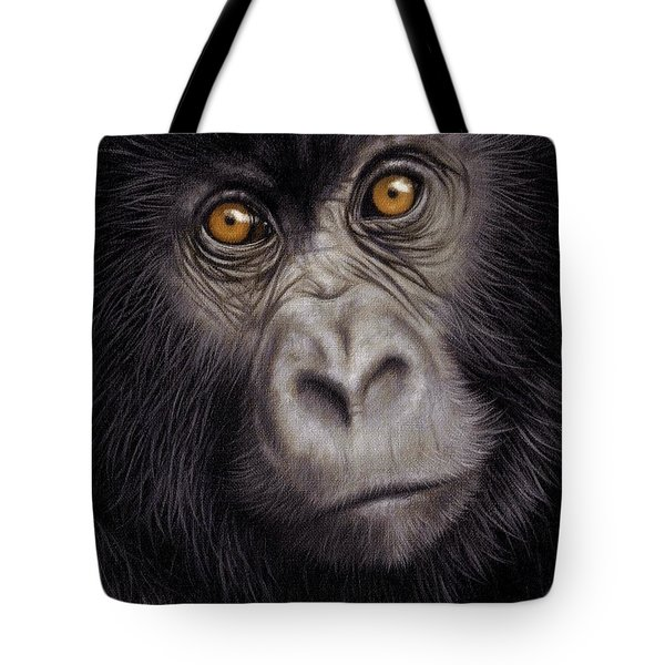 Young Gorilla Painting Tote Bag