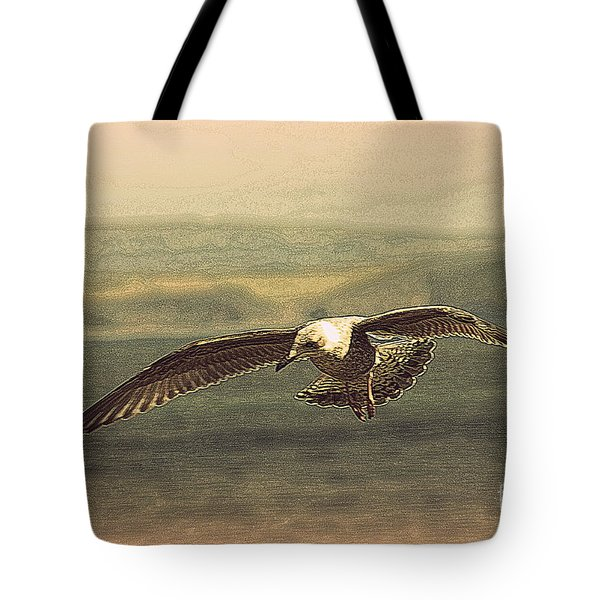 Young Gull Tote Bag by Linsey Williams