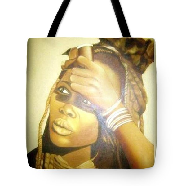 Young Himba Girl - Original Artwork Tote Bag