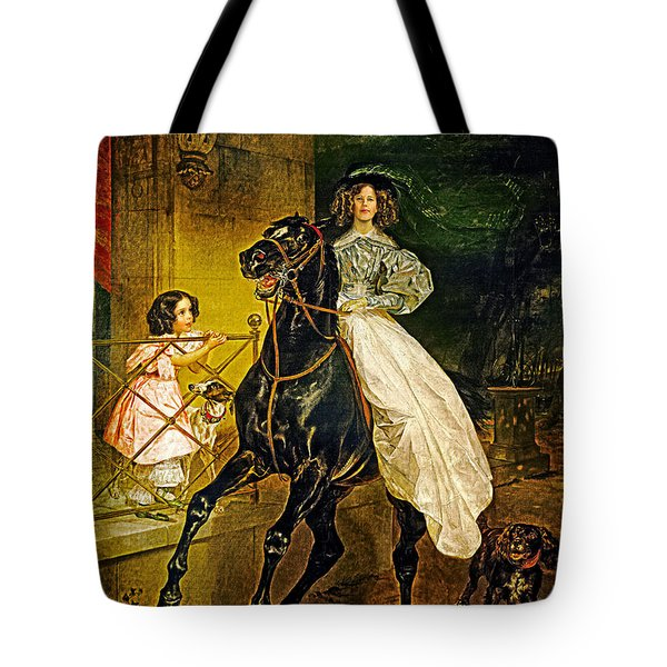 Young Horse Rider Tote Bag