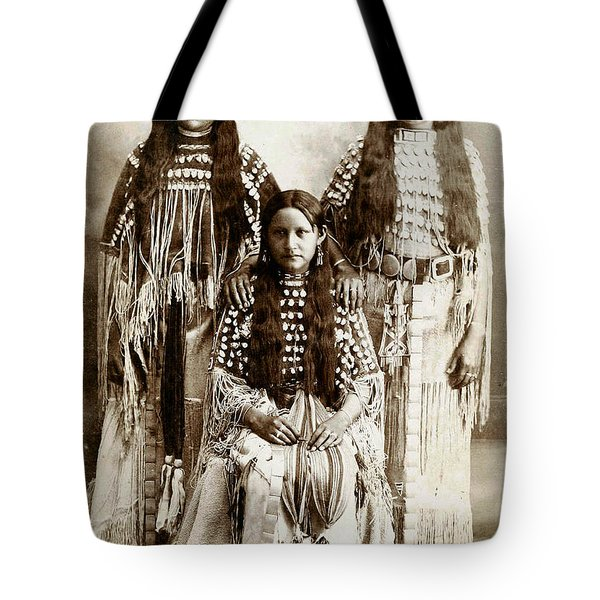 Young Kiowa Belles 1898 Tote Bag by Unknown