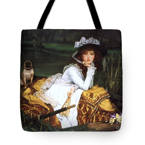 Young Lady In A Boat Tote Bag