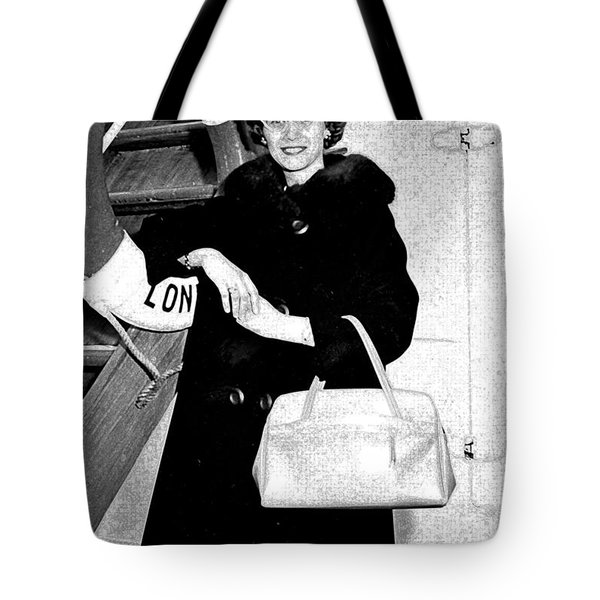 Young Lady On First Cruise Tote Bag by Allan  Hughes