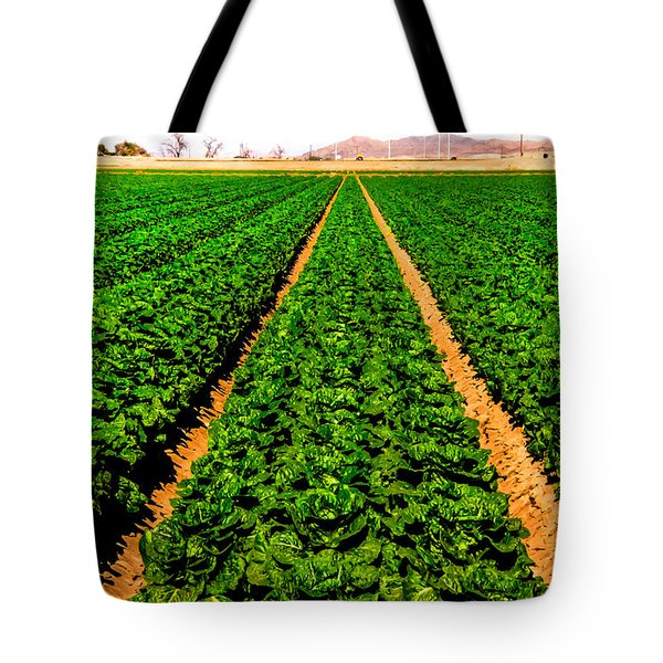 Young Lettuce Tote Bag by Robert Bales