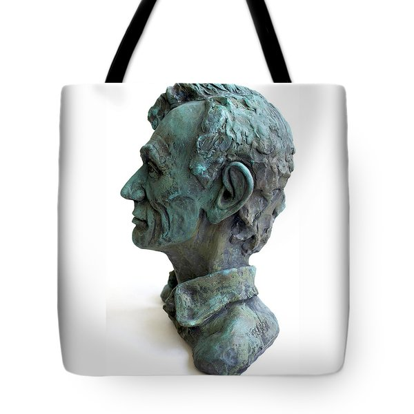 Young Lincoln -sculpture Tote Bag by Derrick Higgins