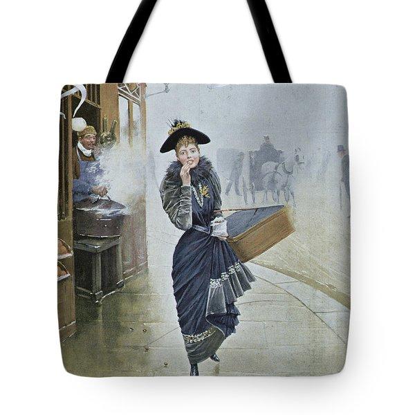 Young Parisian Hatmaker Tote Bag by Jean Beraud