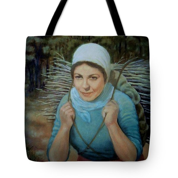 Tote Bag featuring the painting Young Farmer by Laila Awad Jamaleldin