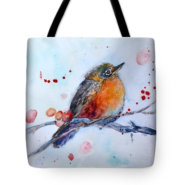 Young Robin Tote Bag