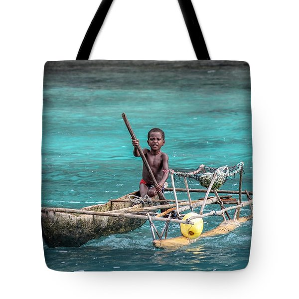 Young Seaman Tote Bag by Jola Martysz