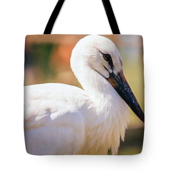 Young Stork Portrait Tote Bag