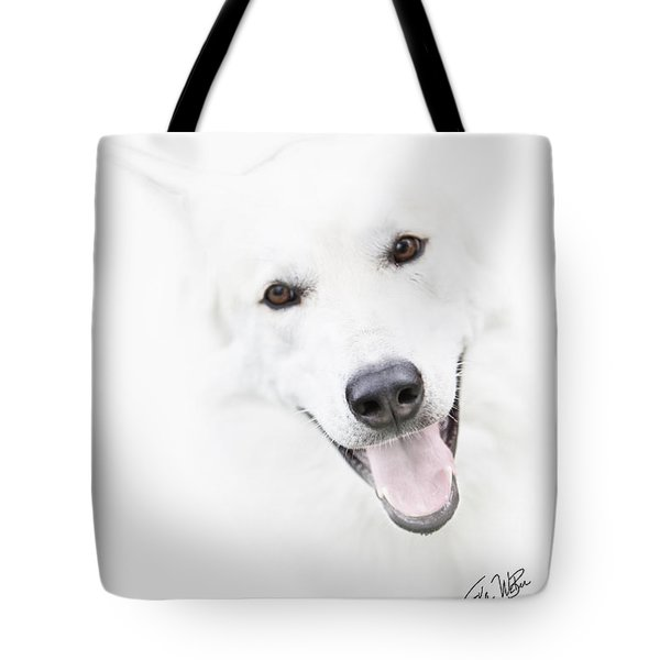 Tote Bag featuring the digital art Young Wolf by Erika Weber