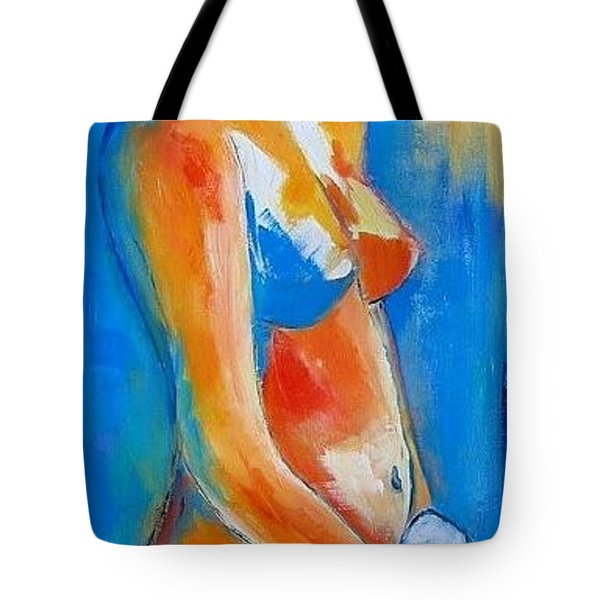 Young Woman Tote Bag by Elise Palmigiani
