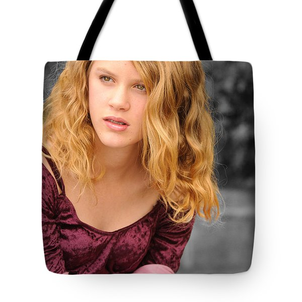 Young Woman's Portrait 2 Tote Bag by Michael  Nau
