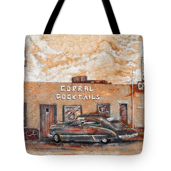 Young's Corral - Holbrook Az - Route 66 - The Mother Road Tote Bag by Christine Till