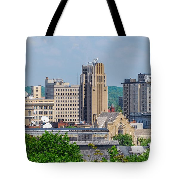D39u-2 Youngstown Ohio Skyline Photo Tote Bag