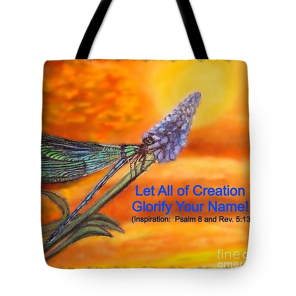 Tote Bag featuring the painting Your Creation Looks Toward  The Heavens  by Kimberlee Baxter