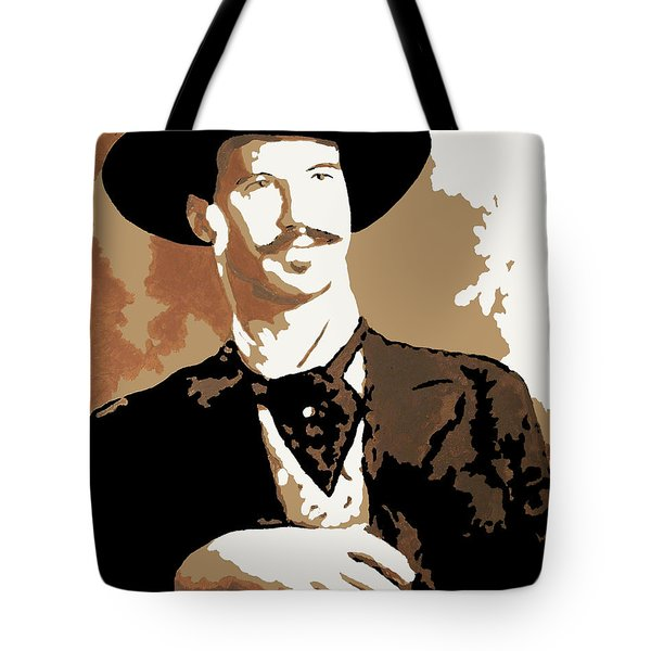 Tote Bag featuring the painting Your Huckleberry by Dale Loos Jr