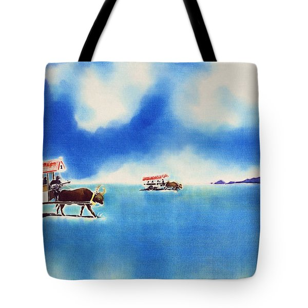 Yubu Island-water Buffalo Taxi  Tote Bag