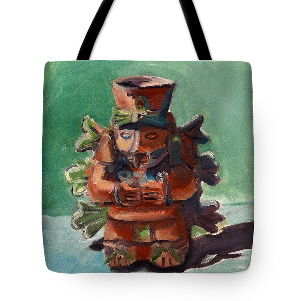 Tote Bag featuring the painting Yucatan Prince by Pattie Wall
