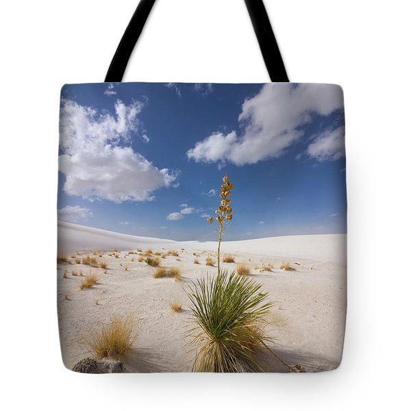 Yucca Growing On Dune In White Sands N Tote Bag