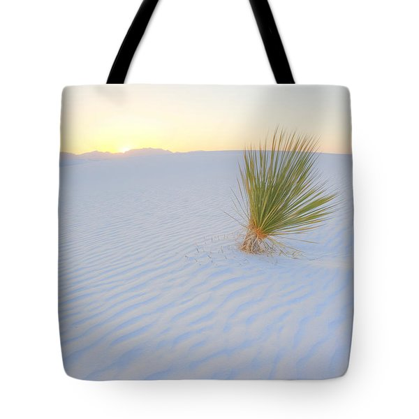 Tote Bag featuring the photograph Yucca Plant At White Sands by Alan Vance Ley