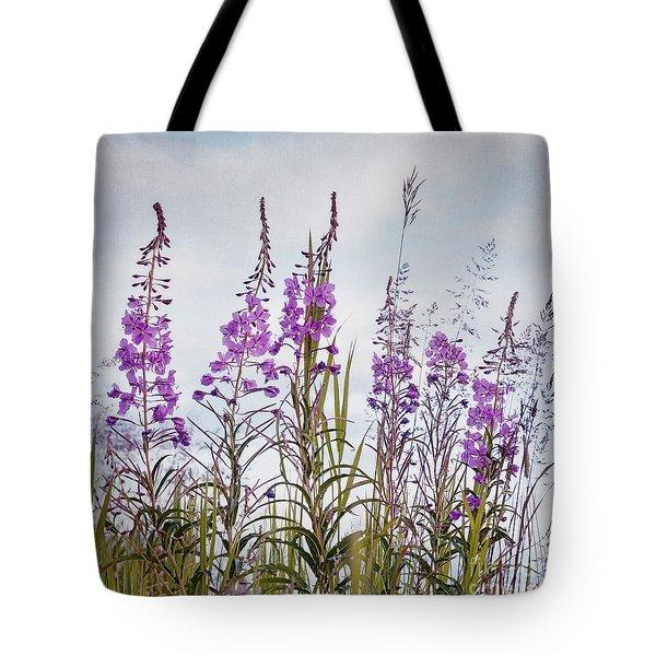 Yukon State Flower Tote Bag by Priska Wettstein
