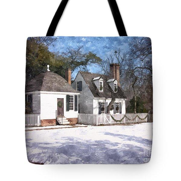 Yule Cottage Tote Bag
