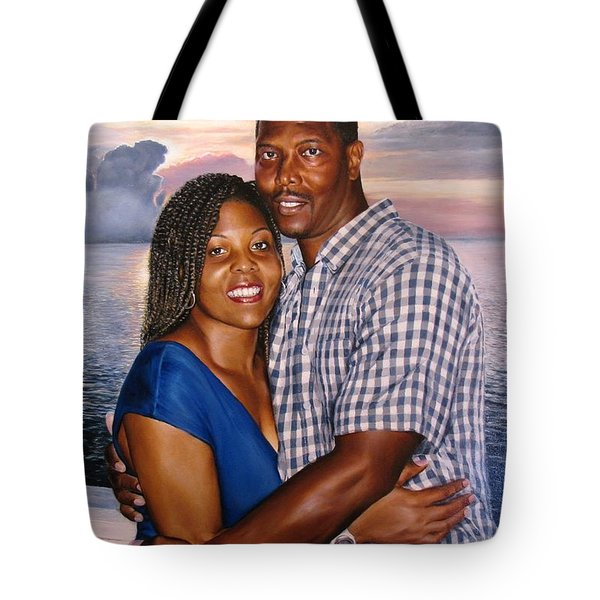 Tote Bag featuring the painting Yulonda And A J by Glenn Beasley