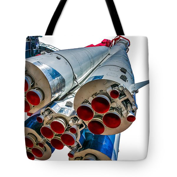 Yuri Gagarin's Spacecraft Vostok-1 - 5 Tote Bag by Alexander Senin