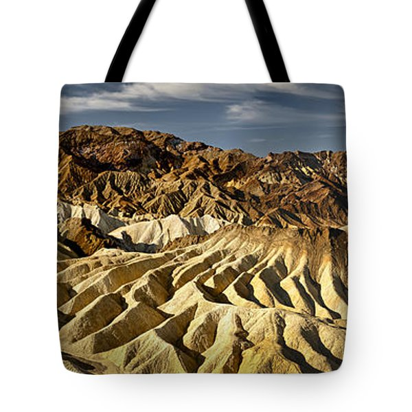 Zabriskie Point Panorama Tote Bag by Eduard Moldoveanu
