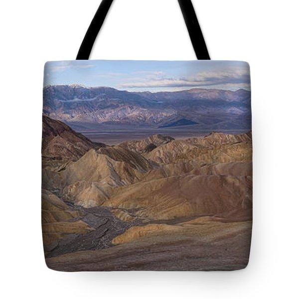 Zabriskie Point Sunrise - Death Valley National Park Tote Bag by Sandra Bronstein