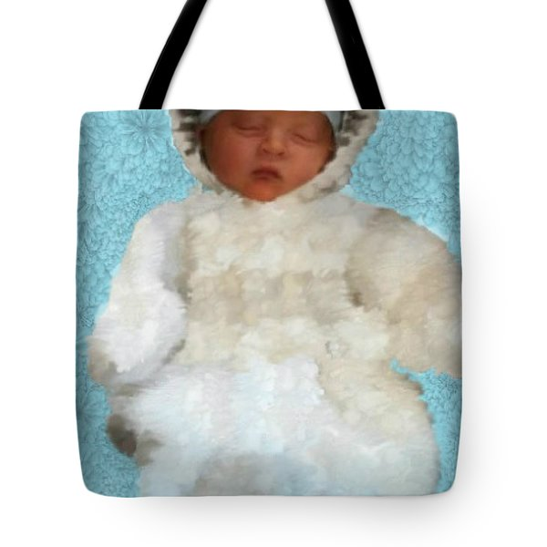 Tote Bag featuring the painting Zachary by Bruce Nutting