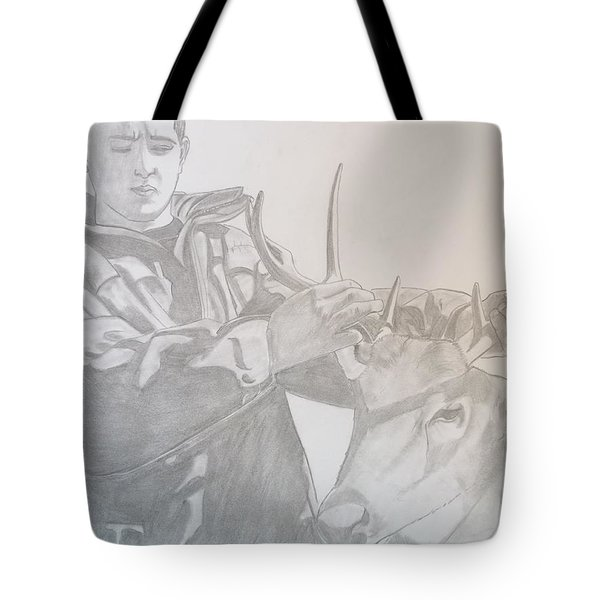 Zach's First Deer Tote Bag by Justin Moore