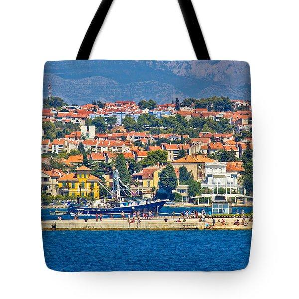 Zadar Waterfront Sea Organs View Tote Bag