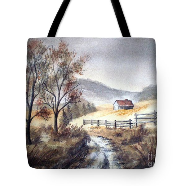 Tote Bag featuring the painting Zagorski Puteljak by Eleonora Perlic