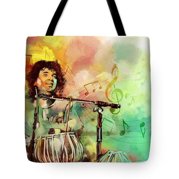 Zakir Hussain Tote Bag by Catf
